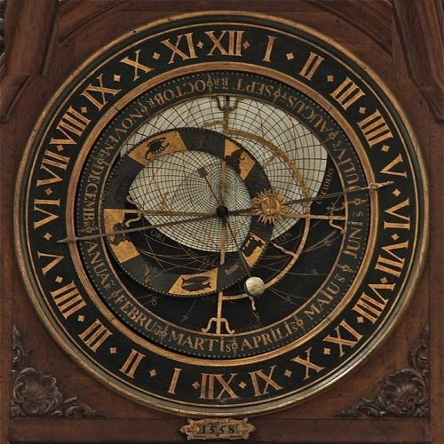 Cathedral Notre Dame in Saint-Omer astronomical clock 1558
