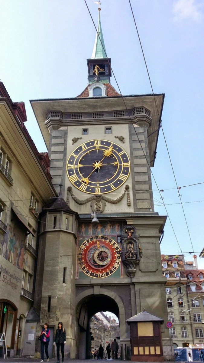 The Zytglogge tower is a landmark medieval tower in Bern. Built in the early 13th century, it has served the city as guard tower, prison, clock tower, centre of urban life and civic memoria