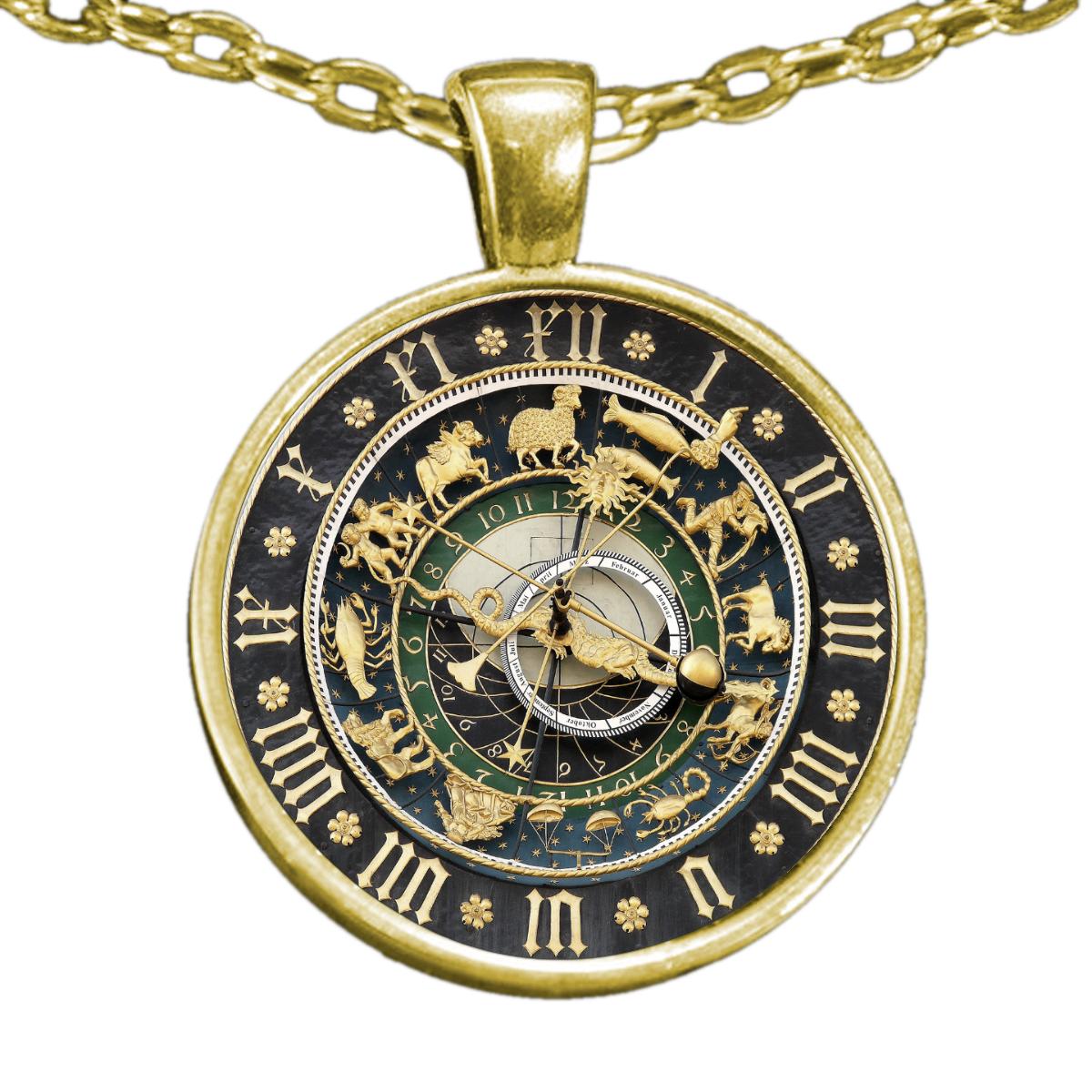 Ulm Astronomical Clock Necklace